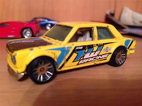 Hotwheels Datsun datsun 510 sedan my painted custom wheels creation