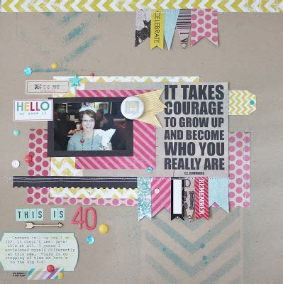 sle layout of scrapbook live the moment this is 40