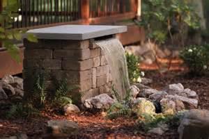 Make Backyard Waterfall Build A Stone Waterfall Fountain Hgtv
