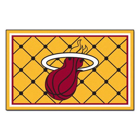 miami heat rug fanmats miami heat 5 ft x 8 ft area rug 9315 the home depot
