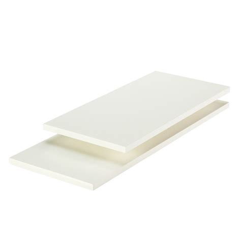 White Laminate Shelf Boards by White Melamine Shelves The Container Store