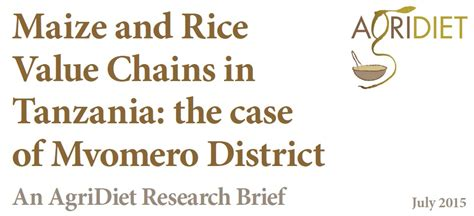 maize research papers agridiet research brief on maize and rice value chains in