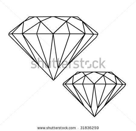 tattoo diamond outline image gallery small diamond
