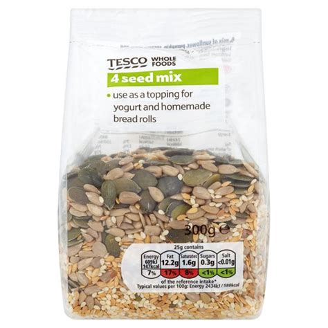 tesco wholefoods 4 seed mix 300g groceries tesco groceries