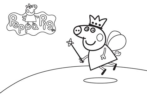 Peppa Pig Princess Coloring Pages | peppa pig coloring pages and sheets