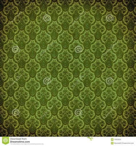 green wallpaper victorian green victorian damask stock illustration image of dirty