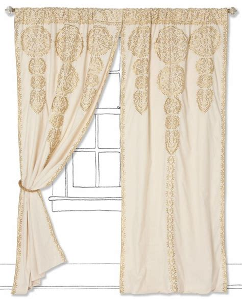 marrakech curtain anthropologie marrakech curtain gold mediterranean curtains by