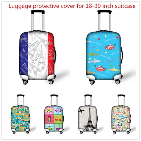 Luggage Cover Elastic 20 18 22 thick elastic luggage protective covers with zipper for 18