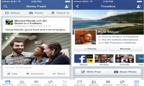 facebook layout on iphone facebook 6 5 now live with reved ios 7 savvy layout