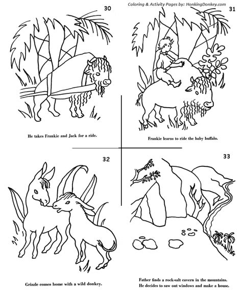 coloring pages for swiss family robinson swiss family robinson adventure story p12 honkingdonkey