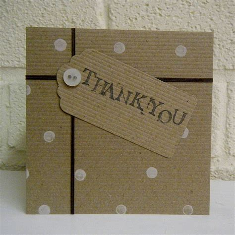 Handmade Thankyou Cards - handmade thankyou card by bells scambler