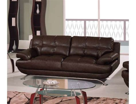 sleek durable leather sofa with square stitching pattern