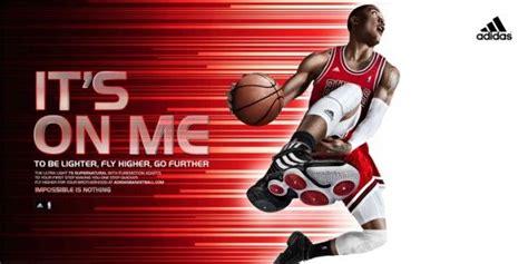 basketball shoe ads an adidas ad showing derrick wearing adidas