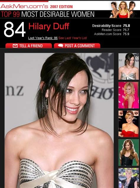 Most Desirable Of 2007 by Hilary Duff News And Pictures January 28 2007