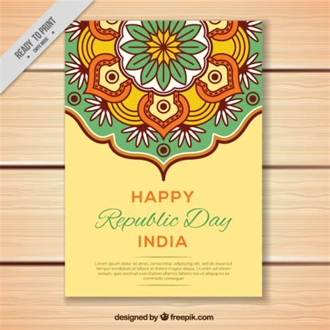 printable greeting cards india greeting card for indian republic day in flat design