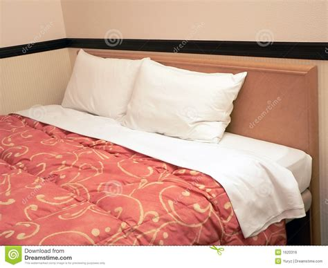 two pillows on bed stock photo image of domestic room double bed with two pillows stock photo image 1620316