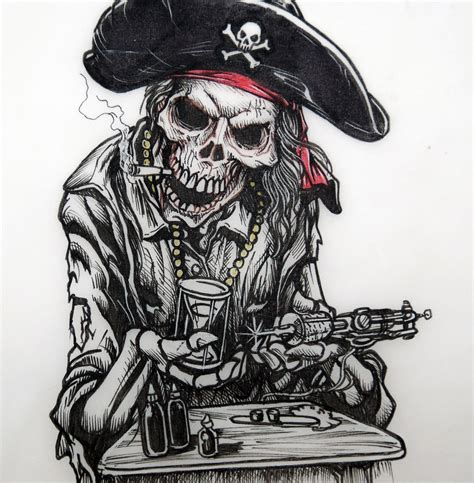 pirate tattoo dise 241 o mireia pe 241 a flickr