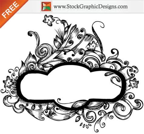 disegnati a mano cornici floral designs vector gratuito