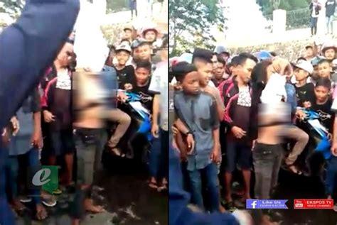 eksposkaltim kalah taruhan balap remaja wanita tanggalkan baju jadi viral di medsos