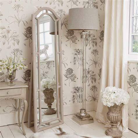 shabby chic bedroom mirrors corner shabby chic floor l with glass stand and