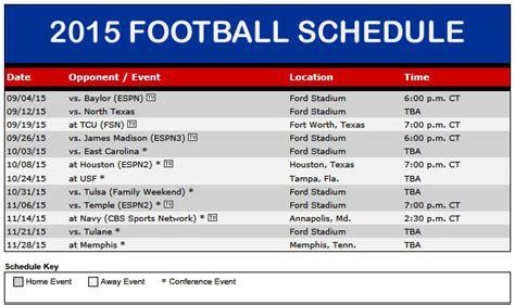 smu mustangs schedule smu announces 2015 football schedule smu