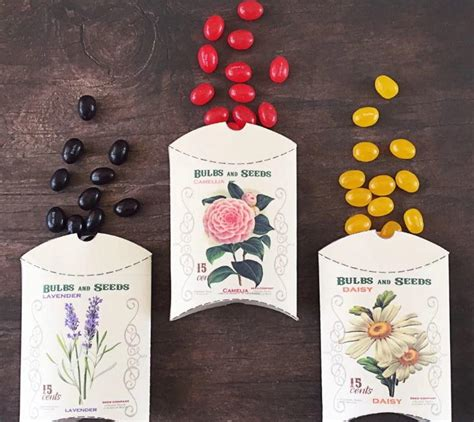 Wedding Paper Crafts - flower seed packet diy favor boxes allfreepapercrafts