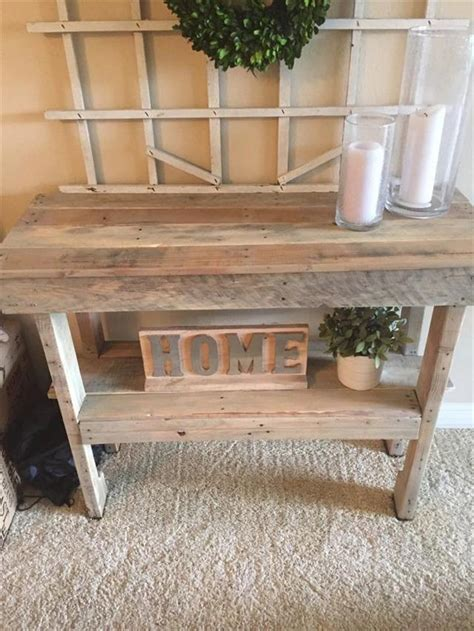 Rustic Entryway Furniture rustic pallet entryway table pallet furniture plans