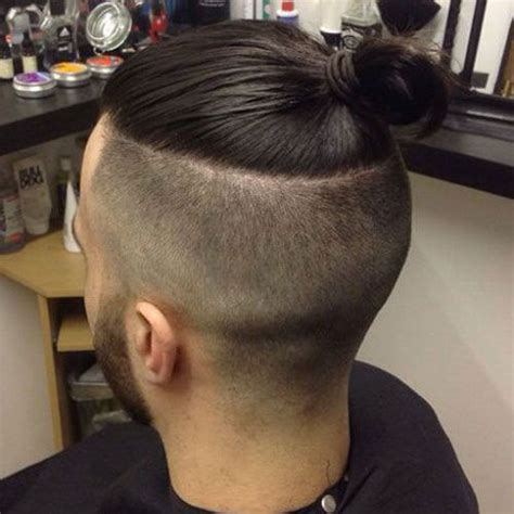 men fade hair top knot new long hairstyles for men 2018