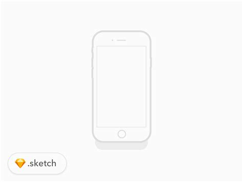 I Phone Sketches by Iphone 7 Illustration Freebie Sketch Resource