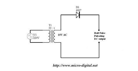 half wave rectifier supply micro digital