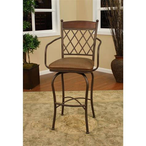 American Heritage Bar Stools 34 by American Heritage 34 In Spice Cushioned Bar