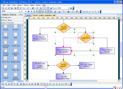 flow diagram software flow diagrams screenshot