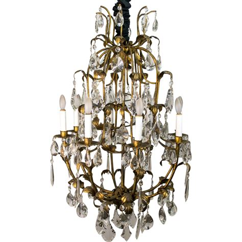 Chandelier M 1960 S Italian Tole Leaf And Chandelier From Table M On Ruby