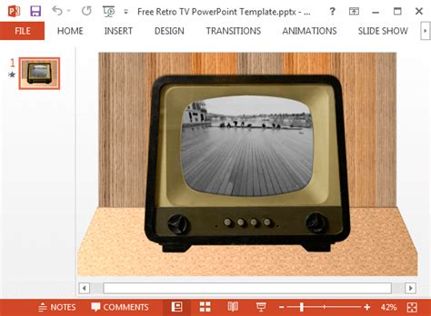 How To Play Video Inside A Tv Image In Powerpoint Tv Powerpoint Template