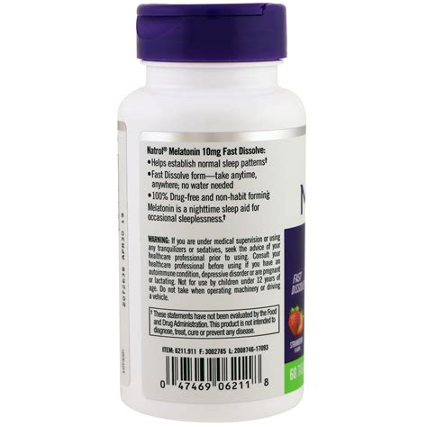 Natrol Acai Berry Isi 75 Tab natrol melatonin sleep fast dissolve strawberry 10 mg 60 tablets iherb