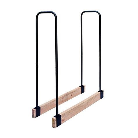 Home Depot Log Rack steel adjustable log rack h122b the home depot