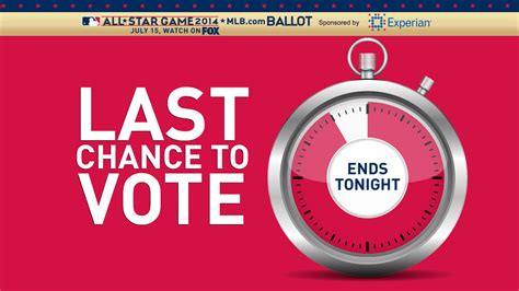 Last Chance To Vote by Election Day Last Chance To Vote For All Starters