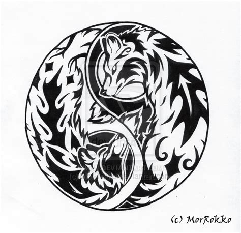 yin yang wolf tattoo wolf yin yang meaning collection