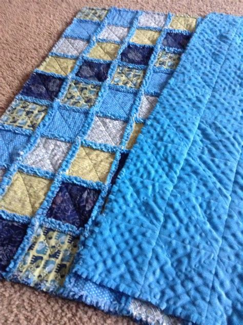 Minky Quilts by Minky Backed Rag Quilt Sewing