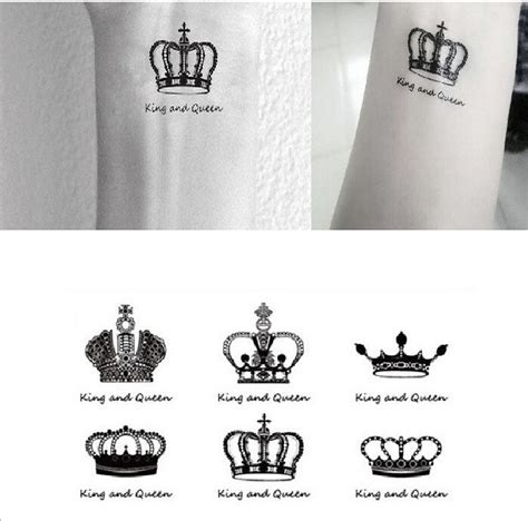 finger tattoo stickers free shipping sex you up king queen clowns wrist finger