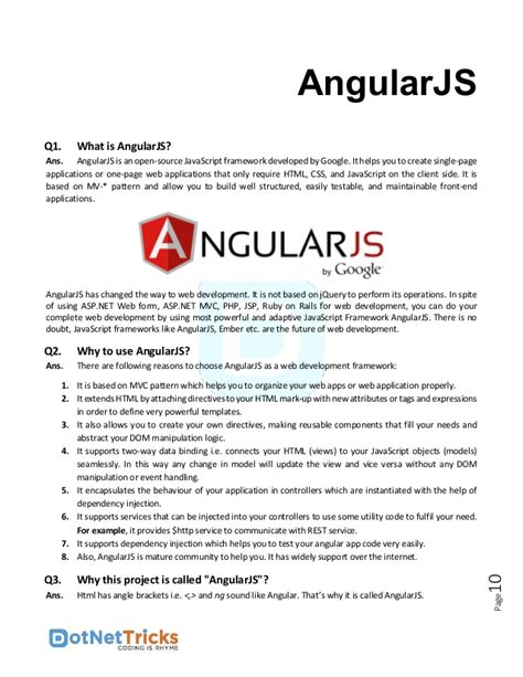 Angularjs Tutorial Interview Questions And Answers   angularjs interview questions and answers by shailendra