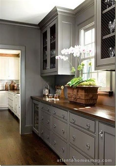 Grey Kitchen Pantry Gray Chicken Wire Counters Butler S Pantry Color