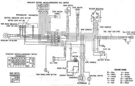 motorcycle wiring diagram honda circuit wiring diagram