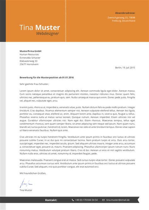 Design Vorlagen Anschreiben Premium Bewerbungsmuster 4 Lebenslaufdesigns De