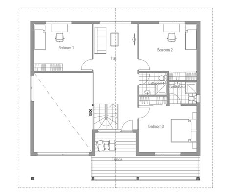 2 bedroom contemporary house plans modern house ch53 with four bedrooms house plan