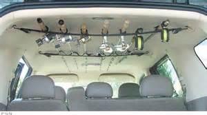 fishing rod holder suv roof rack car interior design