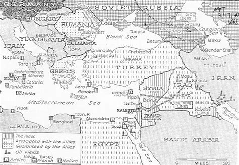 middle east map in 1940 middle east review of international affairs