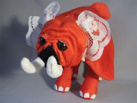orange pug orange pug elephant plush by animalartkingdom on deviantart