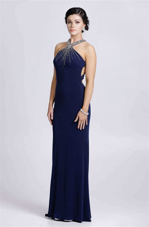 Evening Dresses by Halter Neck Style Evening Dress Af8195 Catherines Of