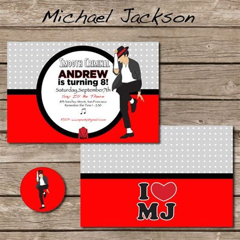 Michael Jackson Party Invitations Oxsvitation Com Michael Jackson Invitations Templates